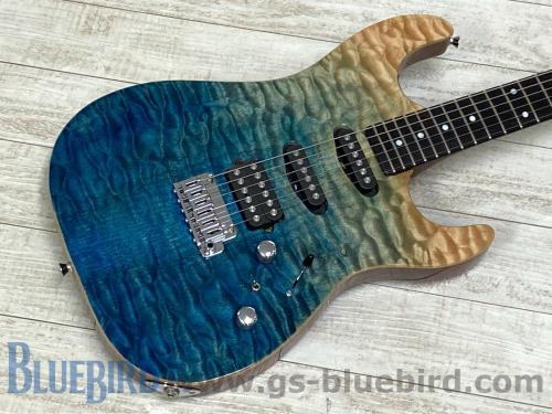 Keipro Guitar Works KS Quilted Maple Top SSH Trans Blue Gradation